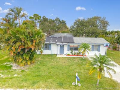 Lake Worth Single Family Home Active With Contract: 9179 Twig Rd