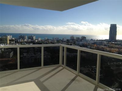 Miami Beach Rental For Rent: 400 Alton Rd #1910