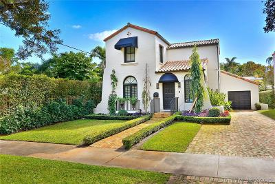 Coral Gables Single Family Home Sold: 1014 Catalonia Ave