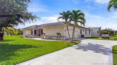Homestead Single Family Home For Sale: 37400 SW 209th Ave