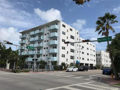 Miami Beach Condo For Sale: 801 Meridian Ave #1B