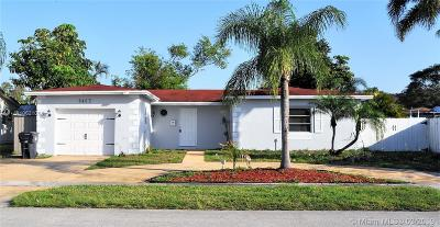 North Lauderdale Single Family Home Active With Contract: 6463 SW 8th Ct