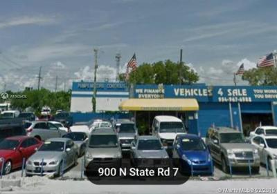Hollywood Commercial For Sale: 900 N State Road 7