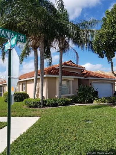 Boynton Beach Single Family Home For Sale: 7241 Catania Dr