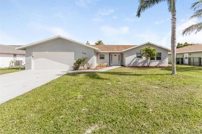 Royal Palm Beach Single Family Home For Sale: 142 Meadowlark Dr