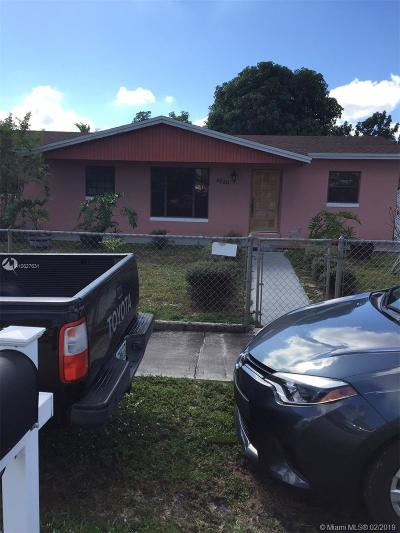 Miami Gardens Single Family Home Active With Contract: 4520 NW 197th St