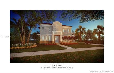 Coral Gables Single Family Home For Sale: 722 Navarre Ave