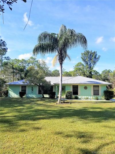 Jupiter Single Family Home For Sale: 16121 127th Dr N