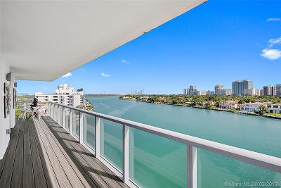 Bay Harbor Islands Condo For Sale: 9901 E Bay Harbor Dr #801