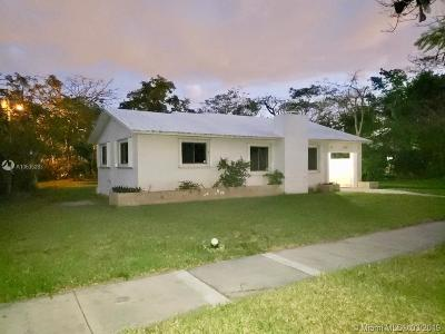 Miami Springs Single Family Home For Sale: 480 S Melrose Dr