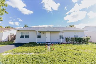 North Lauderdale Single Family Home Active With Contract: 7872 SW 4th Pl