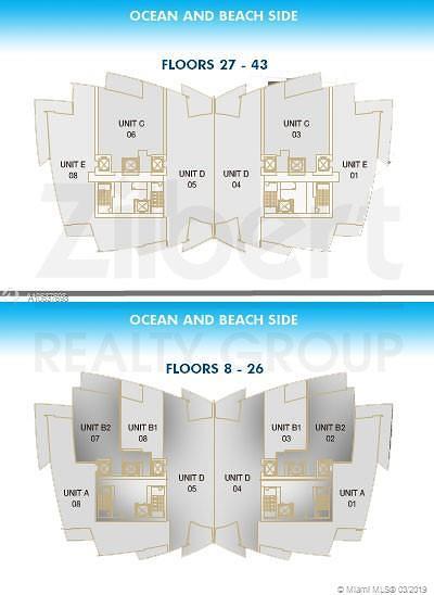 Jade Ocean, Jade Ocean Condo, Jade Ocean Condomini Condo For Sale: 17121 Collins Ave #2808