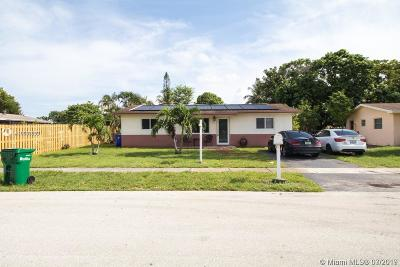 Margate Single Family Home For Sale: 6475 SW 3rd Ct