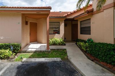 Hialeah Condo Active With Contract: 6352 NW 170th Ter