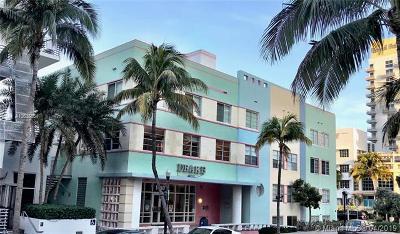 Miami Beach Condo For Sale: 1460 Ocean Dr #202