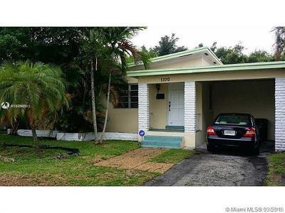 North Miami Single Family Home For Sale: 1370 NE 133rd St