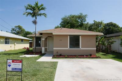 Hallandale Single Family Home For Sale: 213 SW 5th Ave