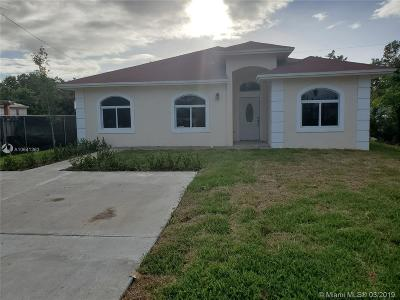 Homestead Single Family Home For Sale: 714 NW 7th Avenue