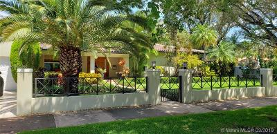 Coral Gables Single Family Home For Sale: 401 Hardee Rd