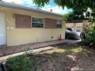 North Miami Beach Single Family Home For Sale: 440 NE 180th Dr