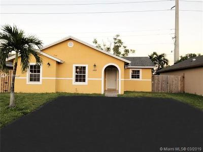 Single Family Home For Sale: 24925 SW 127th Ct
