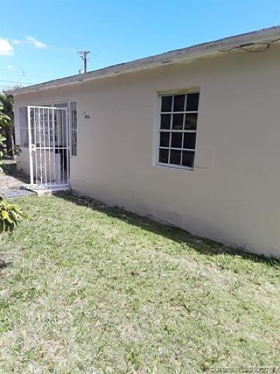 North Miami Single Family Home For Sale: 14215 NE 10th Ave