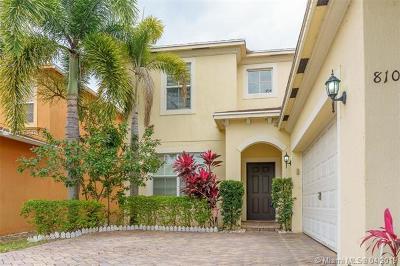 West Palm Beach Single Family Home For Sale: 810 Quartz Ter