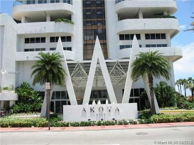 Akoya, Akoya Condo, Akoya Condominiums Rental For Rent: 6365 Collins Ave #3908
