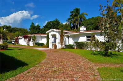 Pinecrest Single Family Home For Sale: 7625 SW 127th St