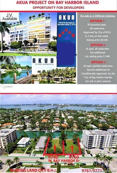 Bal Harbour, Bay Harbor Islands Residential Lots & Land For Sale: 9740/9760 W Bay Harbor Dr