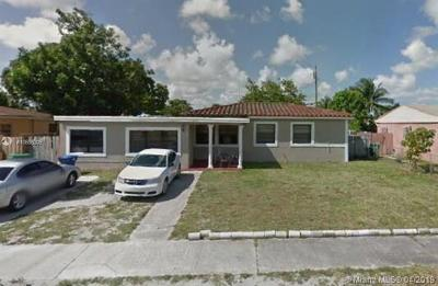 Miami Gardens Single Family Home For Sale: 581 NW 183rd Ter