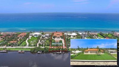 Manalapan Single Family Home For Sale: 1160 S Ocean Blvd