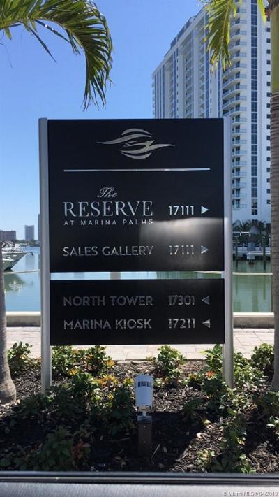 North Miami Beach Condo For Sale: 17111 Biscayne Blvd #2302