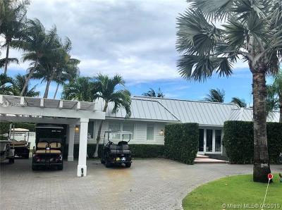 Key Biscayne Single Family Home For Sale: 1051 Mariner Dr