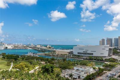Miami-Dade County Condo For Sale: 1100 Biscayne Blvd #1601