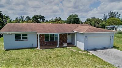 Southwest Ranches Single Family Home For Sale: 5111 SW 196th Lane