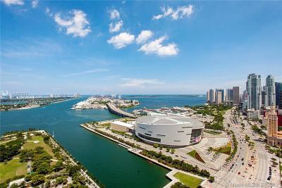 Miami-Dade County Condo For Sale: 900 Biscayne Blvd #3406