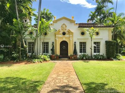 Coral Gables Single Family Home For Sale: 840 Coral Way
