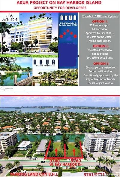 Bay Harbor Islands Single Family Home For Sale: 9740/9760 W Bay Harbor Dr