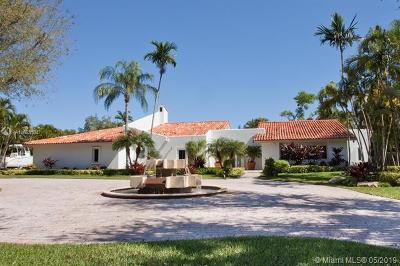 Coral Gables Single Family Home For Sale: 8303 Old Cutler Rd