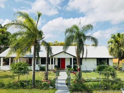 Homestead Single Family Home For Sale: 18445 SW 268 St
