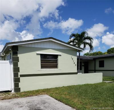 Miami Single Family Home For Sale: 19140 NW 35th Ave