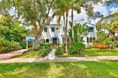 Coral Gables Single Family Home For Sale: 1225 N Greenway Dr
