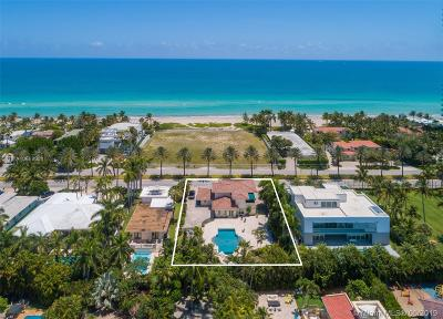 Golden Beach Single Family Home For Sale: 136 Ocean Blvd