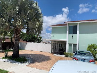 Sweetwater Single Family Home For Sale: 160 SW 116th Ct
