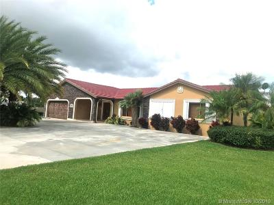 Homestead Single Family Home For Sale: 24450 SW 214th Pl