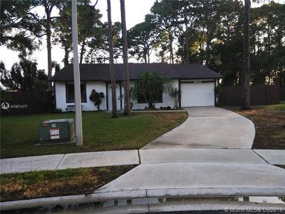 West Palm Beach Single Family Home For Sale: 2487 Lena Ln