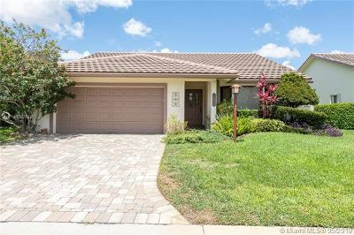Coral Springs Single Family Home Active With Contract: 1485 Lakeview Cir