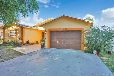 Hollywood Single Family Home For Sale: 2431 Raleigh St