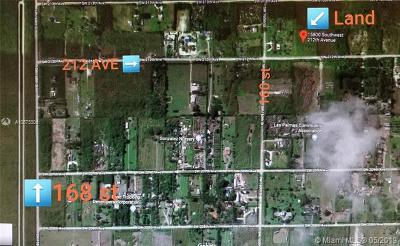 Miami Residential Lots & Land For Sale: 15800 SW 212th Ave